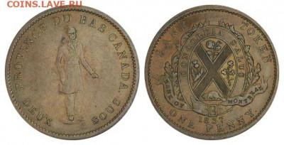 Банковские токены Канады. Описание, типы, разновидности. - token-montreal-bank-penny-1837-g