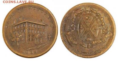 Банковские токены Канады. Описание, типы, разновидности. - token-montreal-bank-penny-1838-g