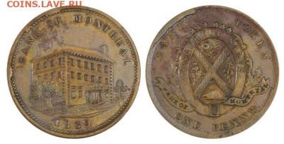 Банковские токены Канады. Описание, типы, разновидности. - token-montreal-bank-penny-1839-g