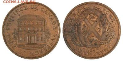 Банковские токены Канады. Описание, типы, разновидности. - token-montreal-bank-half-penny-1845-g