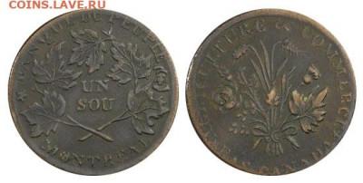 Банковские токены Канады. Описание, типы, разновидности. - token-people-peuple-1-sou-1837-g