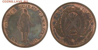 Банковские токены Канады. Описание, типы, разновидности. - token-people-peuple-half-penny-1837-g