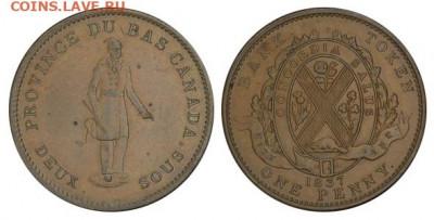 Банковские токены Канады. Описание, типы, разновидности. - token-city-bank-penny-1837-g