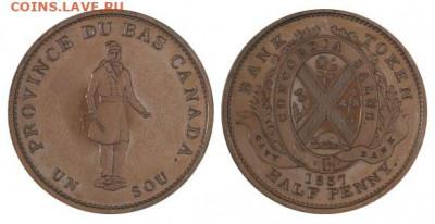 Банковские токены Канады. Описание, типы, разновидности. - token-city-bank-half-penny-1837-g