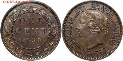 Канада. Монеты периода правления королевы Виктории 1858-1901 - 1-cent-1859-g