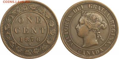 Канада. Монеты периода правления королевы Виктории 1858-1901 - image-1-cent-1876-g