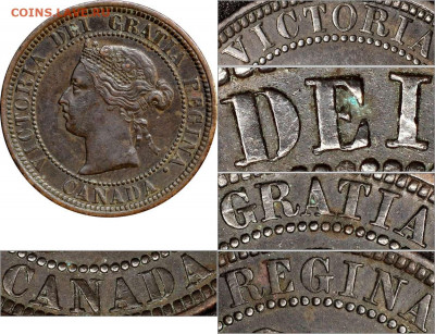 Канада. Монеты периода правления королевы Виктории 1858-1901 - 1-cent-1881-c1a-on-c1-double-die-legend-1881