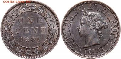 Канада. Монеты периода правления королевы Виктории 1858-1901 - image-1-cent-1881-g