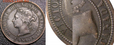 Канада. Монеты периода правления королевы Виктории 1858-1901 - 1-cent-1882-obverse-2-obverse-1-1882