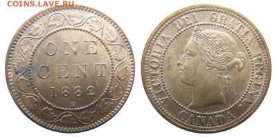 Канада. Монеты периода правления королевы Виктории 1858-1901 - image-1-cent-1882-g