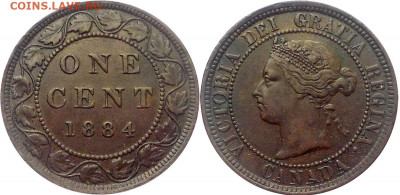 Канада. Монеты периода правления королевы Виктории 1858-1901 - 1-cent-1884-g