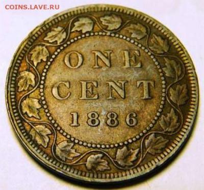 Канада. Монеты периода правления королевы Виктории 1858-1901 - 1-cent-1886-ghosting-1886