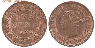Канада. Монеты периода правления королевы Виктории 1858-1901 - 1-cent-1886-g