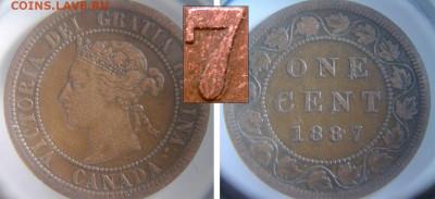Канада. Монеты периода правления королевы Виктории 1858-1901 - 1_cent_1887_double_7