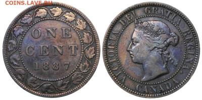 Канада. Монеты периода правления королевы Виктории 1858-1901 - 1-cent-1887-g