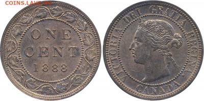 Канада. Монеты периода правления королевы Виктории 1858-1901 - 1-cent-1888-g