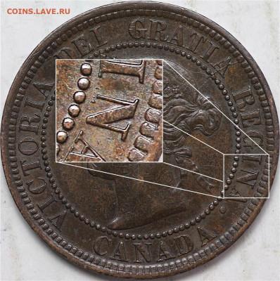 Канада. Монеты периода правления королевы Виктории 1858-1901 - 1-cent-1892-broken-n-in-canada-penny-1892