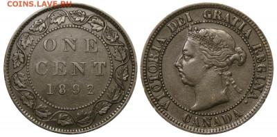 Канада. Монеты периода правления королевы Виктории 1858-1901 - 1-cent-1892-g