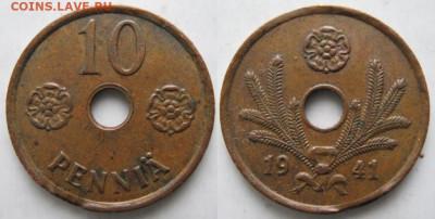 18.Монеты Финляндии - 18.2. -Финляндия 10 пенни 1941    517