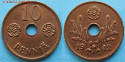 18.Монеты Финляндии - 18.5. -Финляндия 10 пенни 1942    3366