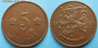 18.Монеты Финляндии - 18.25. -Финляндия 5 пенни 1920    3276