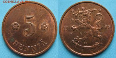 18.Монеты Финляндии - 18.27. -Финляндия 5 пенни 1935    3168