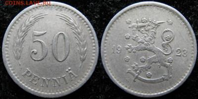 18.Монеты Финляндии - 18.30. -Финляндия 50 пенни 1923    3255