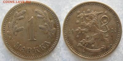 18.Монеты Финляндии - 18.31. -Финляндия 1 марка 1921     169-ак4-3660