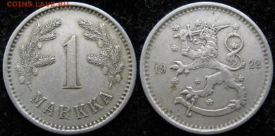 18.Монеты Финляндии - 18.32. -Финляндия 1 марка 1922    3346