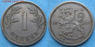 18.Монеты Финляндии - 18.33. -Финляндия 1 марка 1924    180-ак21-4110