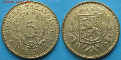 18.Монеты Финляндии - 18.34. -Финляндия 5 марок 1933 S    3219