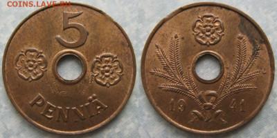 18.Монеты Финляндии - 18.35. -Финляндия 5 пенни 1941    186-ак4-4027