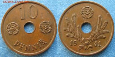 18.Монеты Финляндии - 18.42. -Финляндия 10 пенни 1941    188-ас50-9722