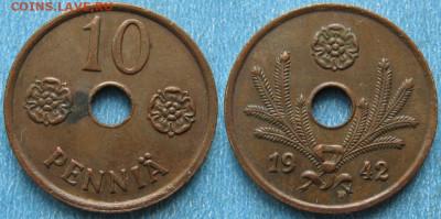 18.Монеты Финляндии - 18.43. -Финляндия 10 пенни 1942    187-ас47-9713