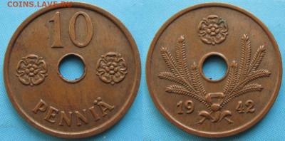 18.Монеты Финляндии - 18.44. -Финляндия 10 пенни 1942    3361