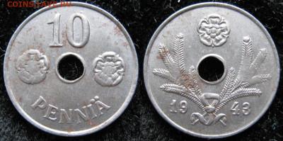 18.Монеты Финляндии - 18.47. -Финляндия 10 пенни 1943    3369