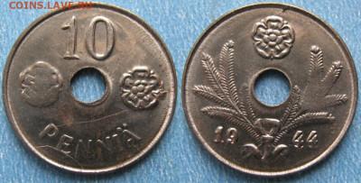 18.Монеты Финляндии - 18.48. -Финляндия 10 пенни 1944     180-к44-9916