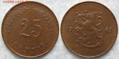 18.Монеты Финляндии - 18.52. -Финляндия 25 пенни 1943    169-ак3-3655