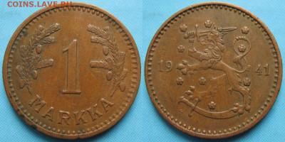 18.Монеты Финляндии - 18.55. -Финляндия 1 марка 1941    3169