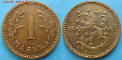 18.Монеты Финляндии - 18.57. -Финляндия 1 марка 1943 S    3368