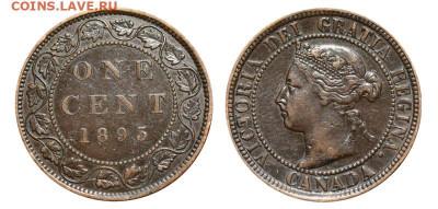 Канада. Монеты периода правления королевы Виктории 1858-1901 - image-1-cent-1893-g