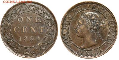 Канада. Монеты периода правления королевы Виктории 1858-1901 - image-1-cent-1894-g