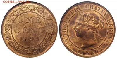 Канада. Монеты периода правления королевы Виктории 1858-1901 - 1-cent-1895-g