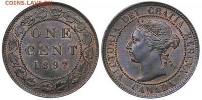 Канада. Монеты периода правления королевы Виктории 1858-1901 - 1-cent-1897-g