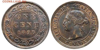 Канада. Монеты периода правления королевы Виктории 1858-1901 - 1-cent-1898-g
