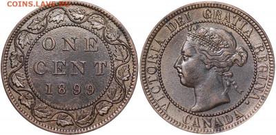 Канада. Монеты периода правления королевы Виктории 1858-1901 - 1-cent-1899-g