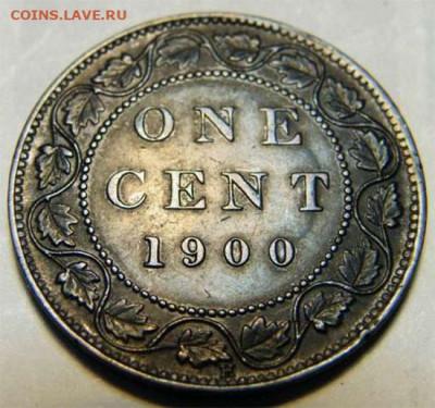 Канада. Монеты периода правления королевы Виктории 1858-1901 - 1-cent-1900-ghosting-1900
