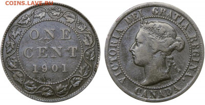 Канада. Монеты периода правления королевы Виктории 1858-1901 - 1-cent-1901-g