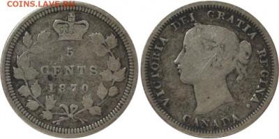 Канада. Монеты периода правления королевы Виктории 1858-1901 - 5-cents-1870