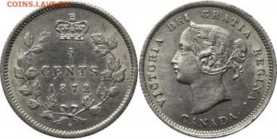 Канада. Монеты периода правления королевы Виктории 1858-1901 - 5-cents-1872